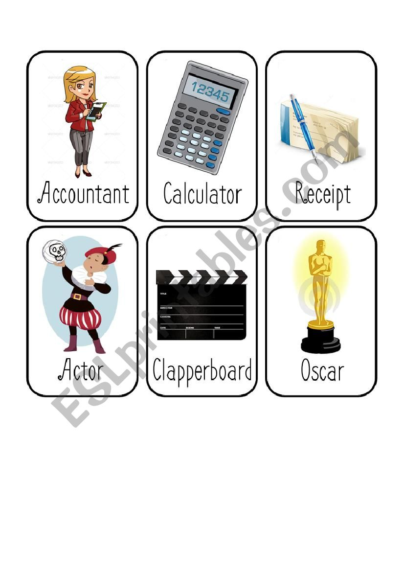 Jobs Card Game [8/8] [Accountant - Actor - Lawyer - Maid]
